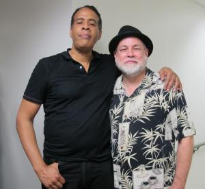 Dave with the great Stanley Clarke after a performance in Nashville with Chick Corea and Return to Forever.