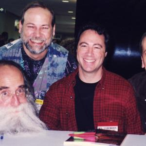 "Bass summit in Anaheim, late 1990's, with three amazing players and people - Lee, Neil, and Hutch at a book signing for Keith Rosier's ""Studio Bass Masters."""